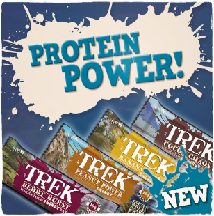 Trek energy bars with protein