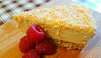 No Bake Lemon & Coconut Cashew Nut 'Cheesecake'